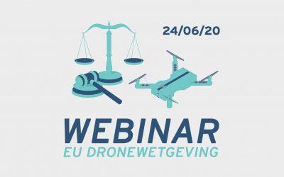 Schrijf je nu in voor het webinar van 24/06 over de nieuwe Europese dronewetgeving