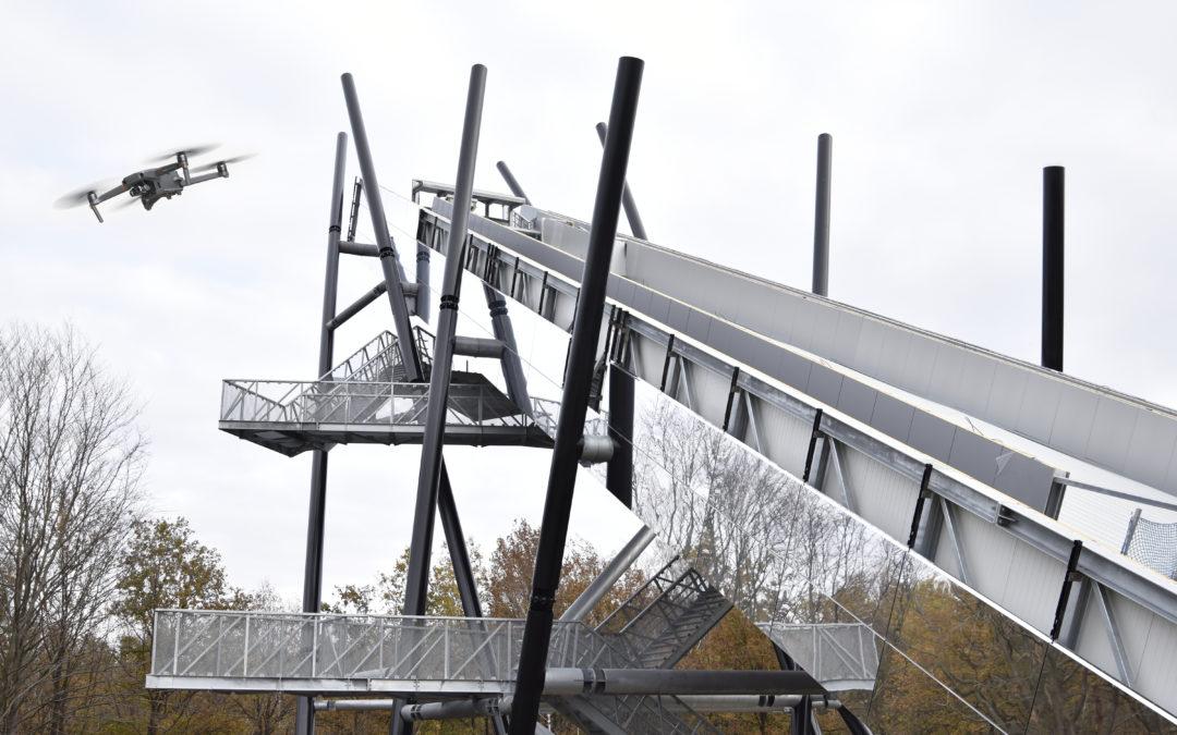 VIDEO: Mapix gebruikt drones bij bouw van nieuwe skischans in Genk