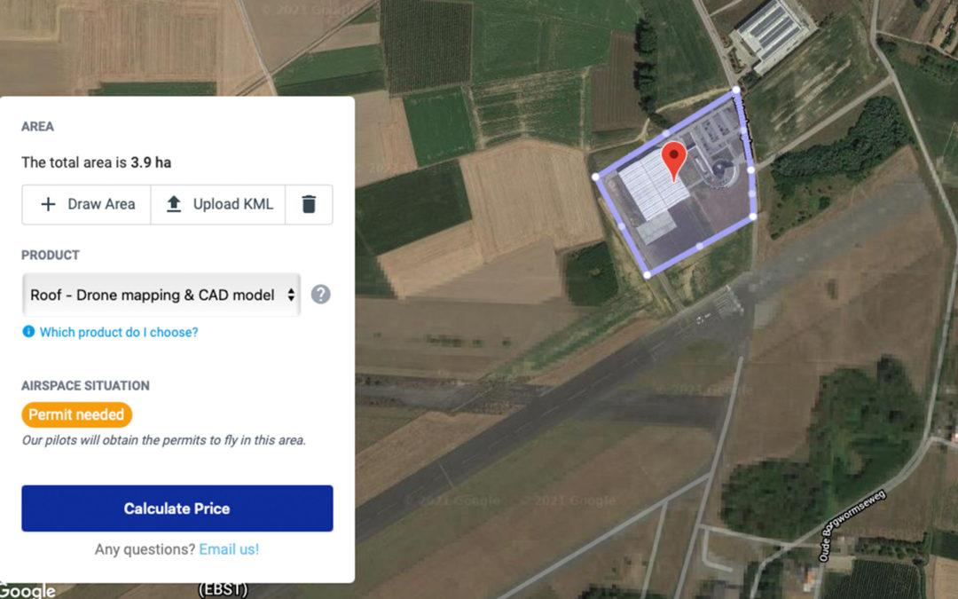 Inflights levert custom 3D dronedata op basis van de coördinaten die u doorgeeft